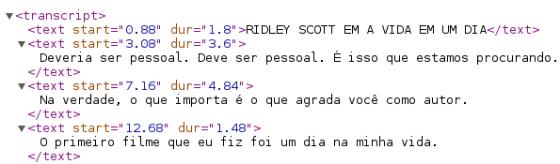 Legenda em XML